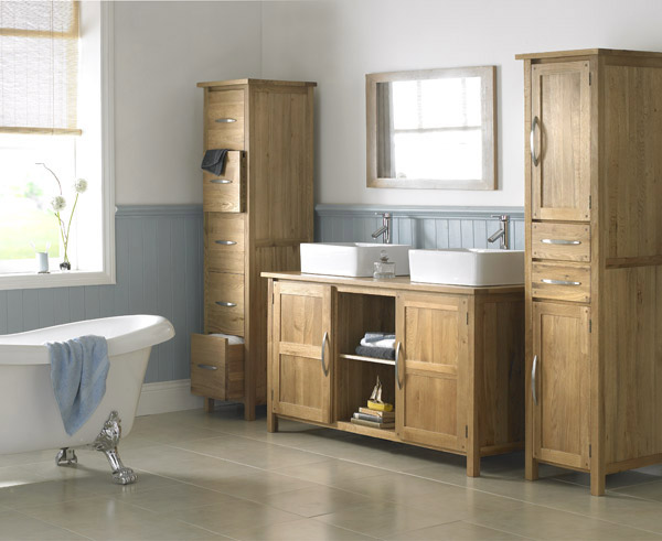 bathroom shelving is great for also displaying items that inspire you in the morning like quotes and photographs with your favourite people - Furniture In The Bathroom