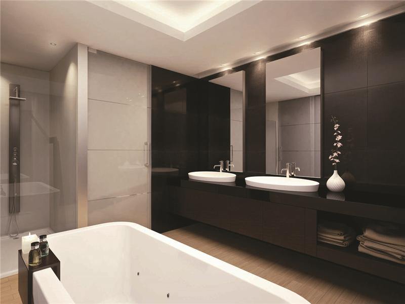 Things to consider for modern luxury bathroom designs - Bagno con doppio lavello ...