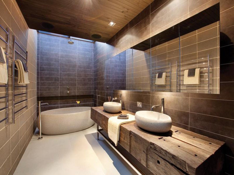 Mixing Textures With Bathroom Design