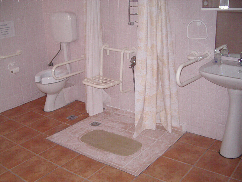 Ideas for handicap accessible bathroom d cor for Handicapped accessible bathroom plans